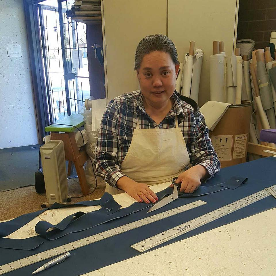 Hong,our seamstress